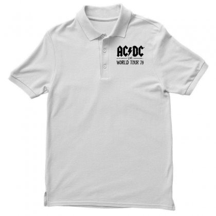 Acdc Live World Tour 79 In Black Men's Polo Shirt Designed By Pinkanzee