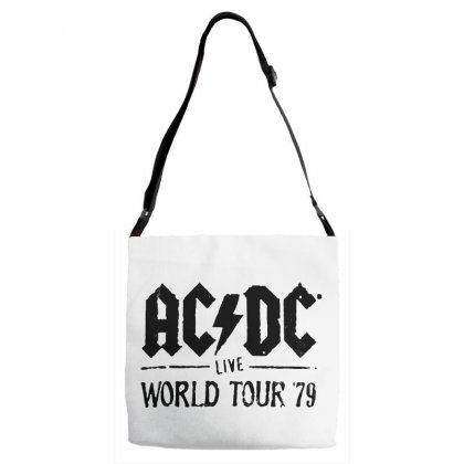 Acdc Live World Tour 79 In Black Adjustable Strap Totes Designed By Pinkanzee