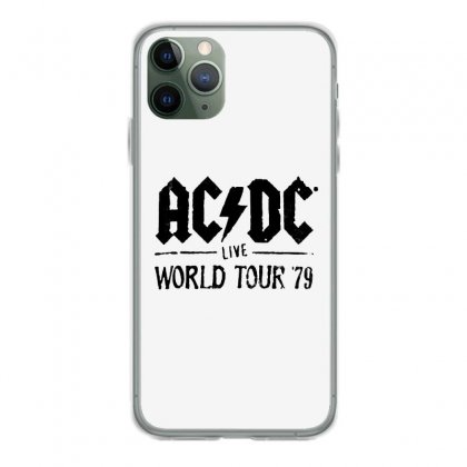 Acdc Live World Tour 79 In Black Iphone 11 Pro Case Designed By Pinkanzee