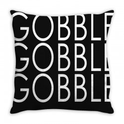 Thanksgiving Turkey Gobble Gobble Throw Pillow Designed By Yellow Star