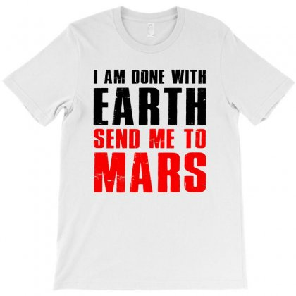 Space Travel Mission Planet Mars T-shirt Designed By Meza Design