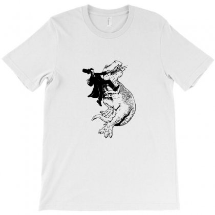 Punching A T Rex In The Face Funny T-shirt Designed By Teeshop