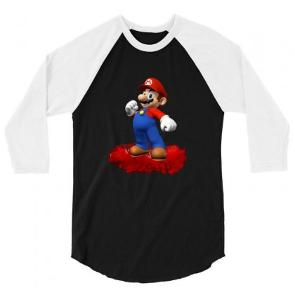 Mario 3/4 Sleeve Shirt Designed By Edvin