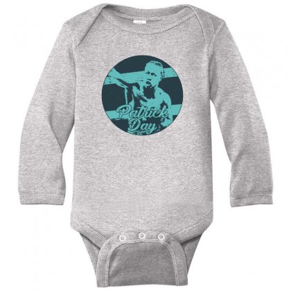 Boxer Patrick Day Long Sleeve Baby Bodysuit Designed By Gurkan
