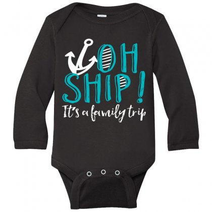 Oh Ship Anchor Long Sleeve Baby Bodysuit Designed By Perfect Designers