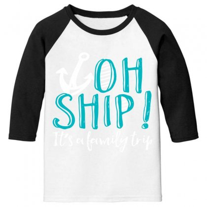 Oh Ship Anchor Youth 3/4 Sleeve Designed By Perfect Designers