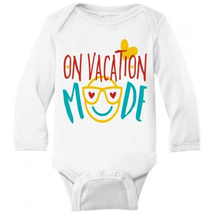 On Vacation Mode Long Sleeve Baby Bodysuit Designed By Perfect Designers