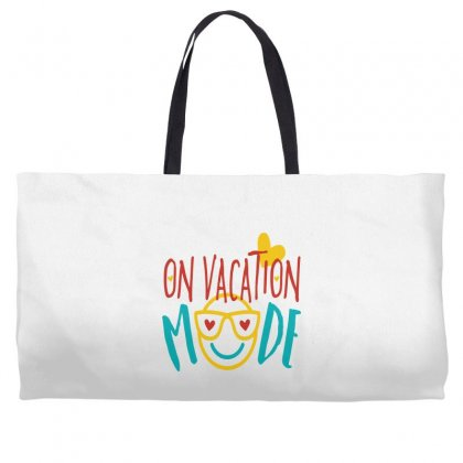 On Vacation Mode Weekender Totes Designed By Perfect Designers