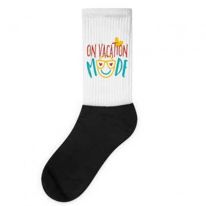 On Vacation Mode Socks Designed By Perfect Designers