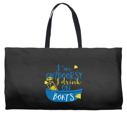 Outdoosy Drink On Boats Weekender Totes Designed By Perfect Designers