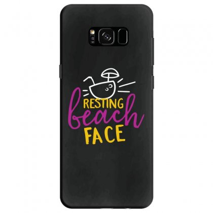 Resting Beach Face Samsung Galaxy S8 Case Designed By Perfect Designers
