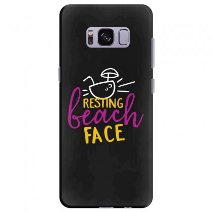 Resting Beach Face Samsung Galaxy S8 Plus Case Designed By Perfect Designers