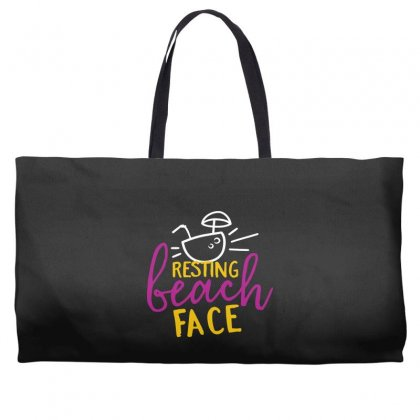 Resting Beach Face Weekender Totes Designed By Perfect Designers