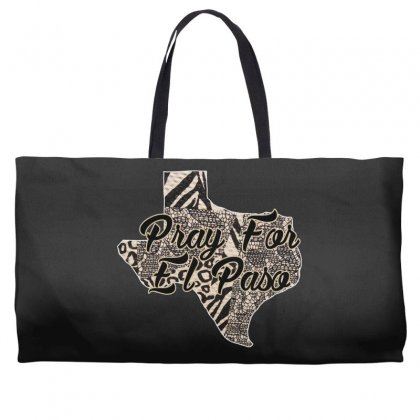 Support El Paso White Text For Dark Weekender Totes Designed By Gurkan