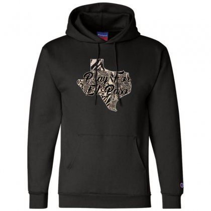 Support El Paso White Text For Dark Champion Hoodie Designed By Gurkan