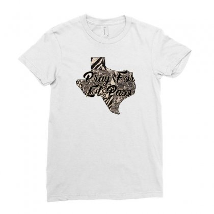Support El Paso White Text For Light Ladies Fitted T-shirt Designed By Gurkan