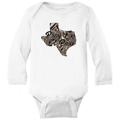 Support El Paso White Text For Light Long Sleeve Baby Bodysuit Designed By Gurkan