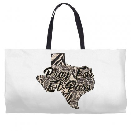 Support El Paso White Text For Light Weekender Totes Designed By Gurkan