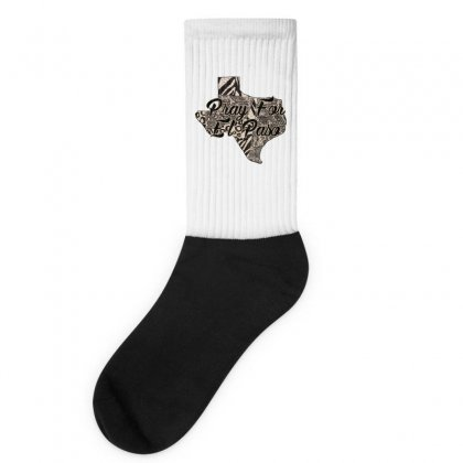 Support El Paso White Text For Light Socks Designed By Gurkan