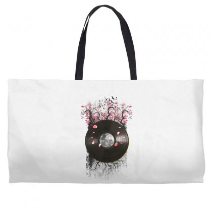 Cherry Bloom Record Weekender Totes Designed By Sengul