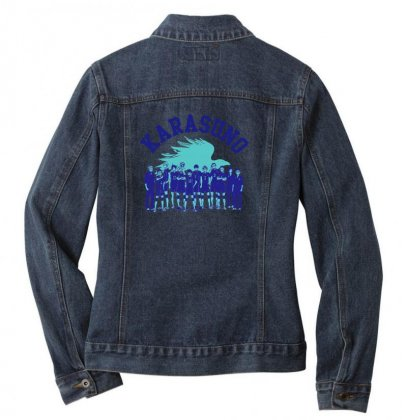 Team Karasuno Ladies Denim Jacket Designed By Gurkan