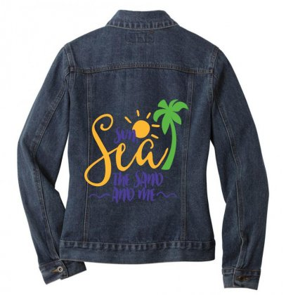 Sun Sea The Sand And Me Ladies Denim Jacket Designed By Perfect Designers
