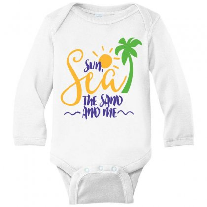 Sun Sea The Sand And Me Long Sleeve Baby Bodysuit Designed By Perfect Designers