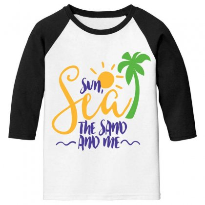 Sun Sea The Sand And Me Youth 3/4 Sleeve Designed By Perfect Designers