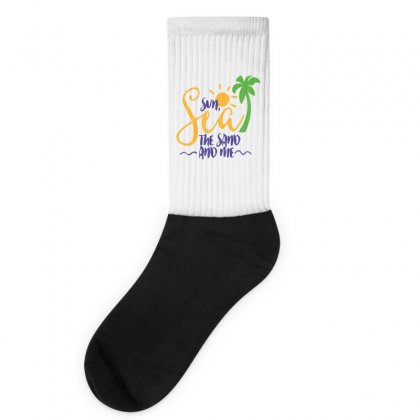 Sun Sea The Sand And Me Socks Designed By Perfect Designers