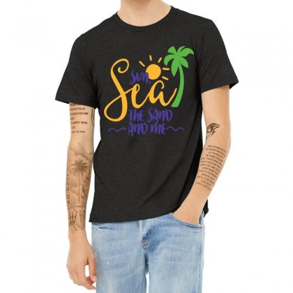 Sun Sea The Sand And Me Heather T-shirt Designed By Perfect Designers