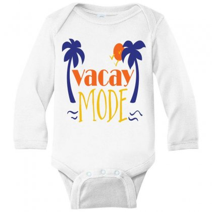 Vacay Mode Long Sleeve Baby Bodysuit Designed By Perfect Designers