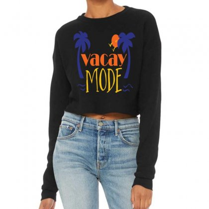 Vacay Mode Cropped Sweater Designed By Perfect Designers