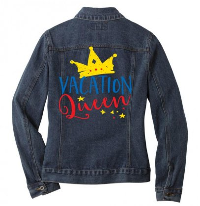 Vacation Queen Ladies Denim Jacket Designed By Perfect Designers