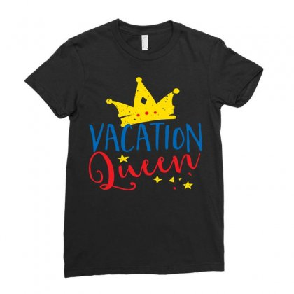 Vacation Queen Ladies Fitted T-shirt Designed By Perfect Designers