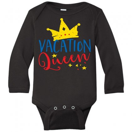 Vacation Queen Long Sleeve Baby Bodysuit Designed By Perfect Designers