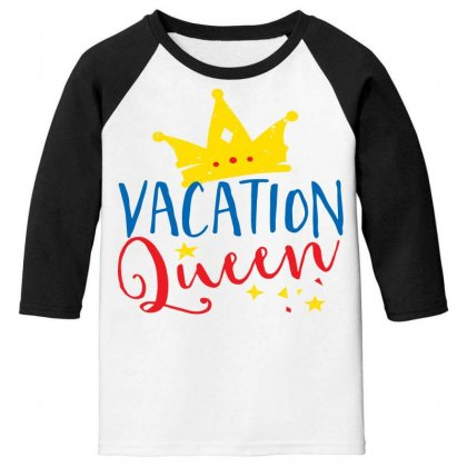 Vacation Queen Youth 3/4 Sleeve Designed By Perfect Designers