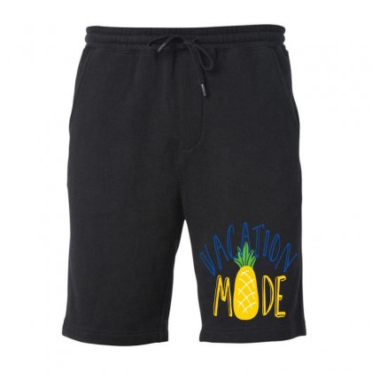 Vacation Mode Pineapple Fleece Short Designed By Perfect Designers
