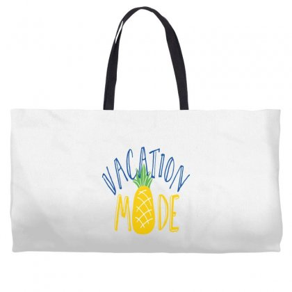 Vacation Mode Pineapple Weekender Totes Designed By Perfect Designers