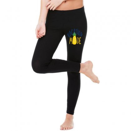 Vacation Mode Pineapple Legging Designed By Perfect Designers