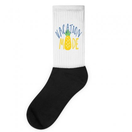 Vacation Mode Pineapple Socks Designed By Perfect Designers