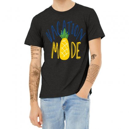 Vacation Mode Pineapple Heather T-shirt Designed By Perfect Designers