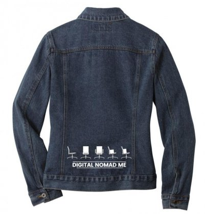 Digital Nomad Me Ladies Denim Jacket Designed By Digitalnomadme