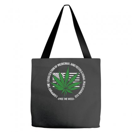 Free The Weed Marijuana Legalization Tote Bags Designed By Satrio Art