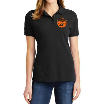 Happy Halloween Ladies Polo Shirt Designed By Platinumshop