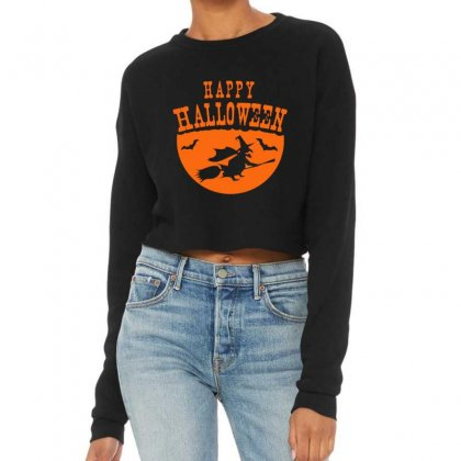 Happy Halloween Cropped Sweater Designed By Platinumshop