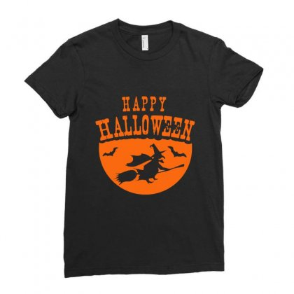 Happy Halloween Ladies Fitted T-shirt Designed By Platinumshop