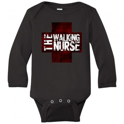 The Walking Nurse, Funny T Shirt Zombie Style Halloween Gift Long Sleeve Baby Bodysuit Designed By Platinumshop
