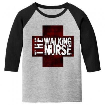 The Walking Nurse, Funny T Shirt Zombie Style Halloween Gift Youth 3/4 Sleeve Designed By Platinumshop