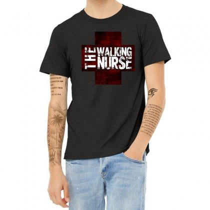 The Walking Nurse, Funny T Shirt Zombie Style Halloween Gift Heather T-shirt Designed By Platinumshop