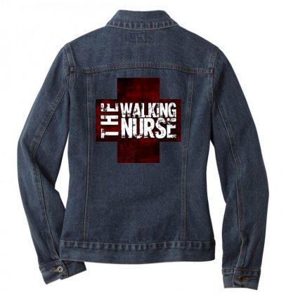 The Walking Nurse, Funny T Shirt Zombie Style Halloween Gift Ladies Denim Jacket Designed By Platinumshop